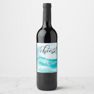 Etiqueta del vino del boda del fondo de la