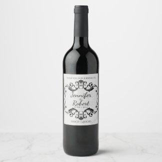 Etiqueta del vino del país de las maravillas del