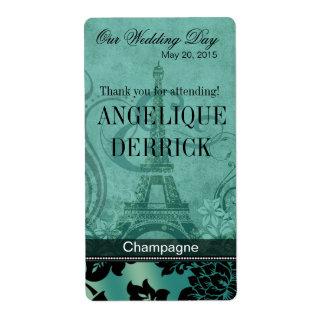 Etiqueta del vino del trullo de la torre Eiffel el Etiquetas De Envío