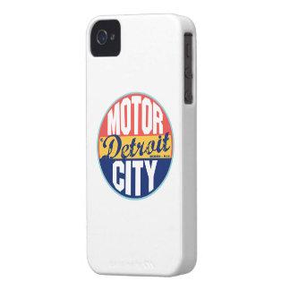 Etiqueta del vintage de Detroit iPhone 4 Case-Mate Coberturas