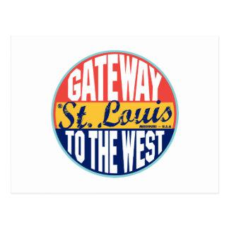 Etiqueta del vintage de St. Louis Postal