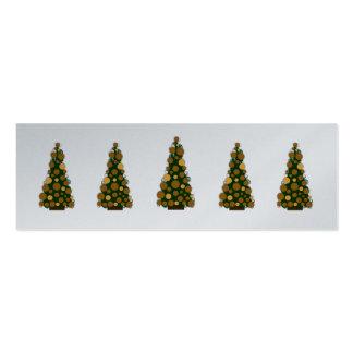Etiqueta delgada del regalo del árbol de navidad d tarjetas de visita mini