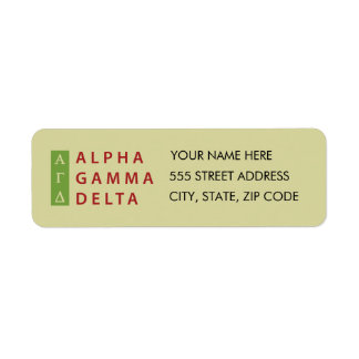 Etiqueta Delta gamma alfa apilado