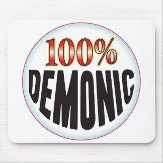Etiqueta demoníaca tapete de ratón