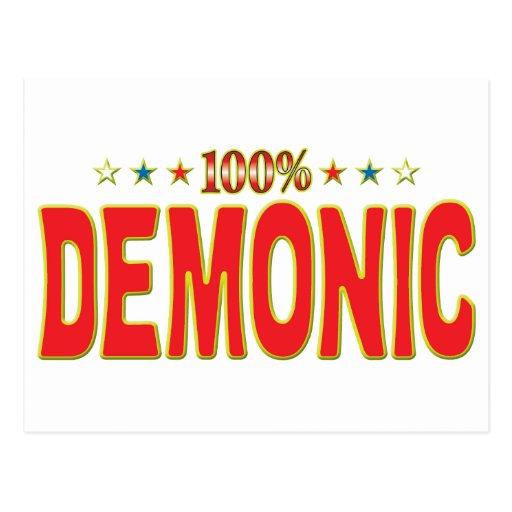 Etiqueta demoníaca de la estrella postales