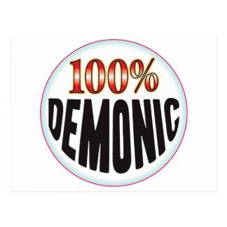 Etiqueta demoníaca postal
