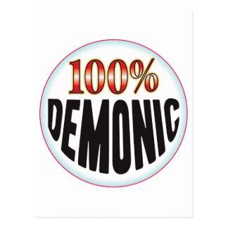 Etiqueta demoníaca tarjetas postales
