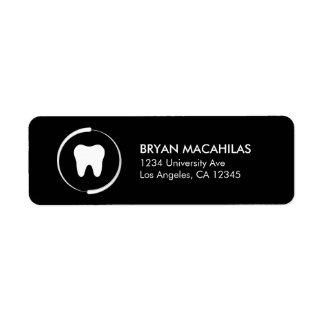 Etiqueta dental del remite etiqueta de remitente