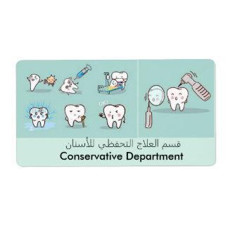 etiqueta dental etiqueta de envío
