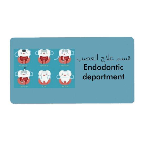 etiqueta dental etiquetas de envío