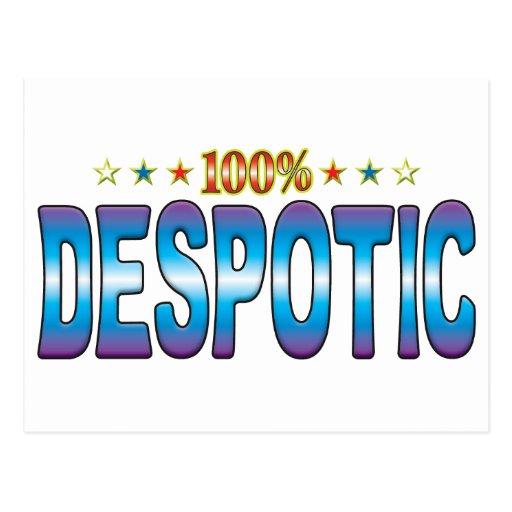 Etiqueta despótica v2 de la estrella tarjetas postales
