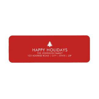 Etiqueta Día de fiesta personalizado del árbol de navidad