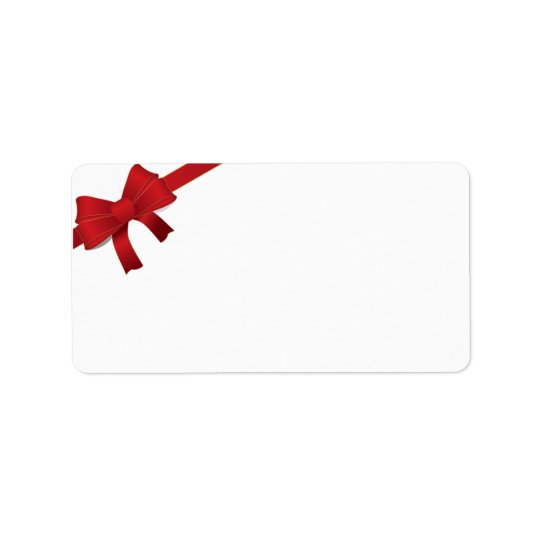 Etiqueta Día de fiesta rojo del navidad del arco