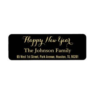 Etiqueta Dirección de encargo de la Feliz Año Nuevo del