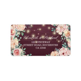 Etiqueta Dirección floral botánica del boda de la acuarela