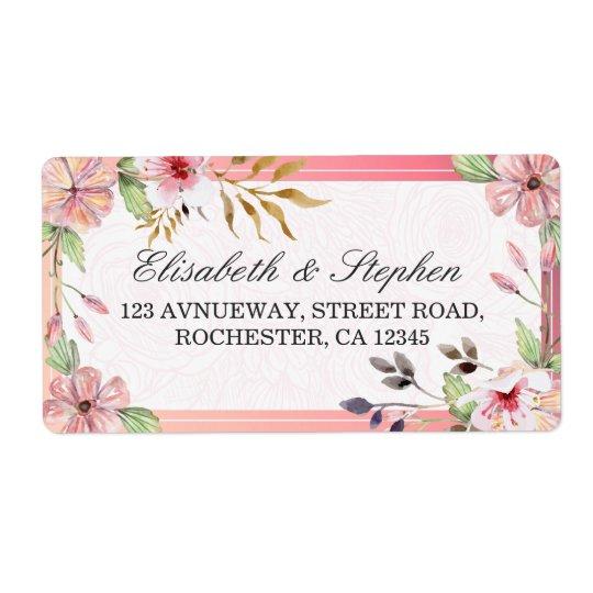 Etiqueta Dirección floral del boda de la escritura de la