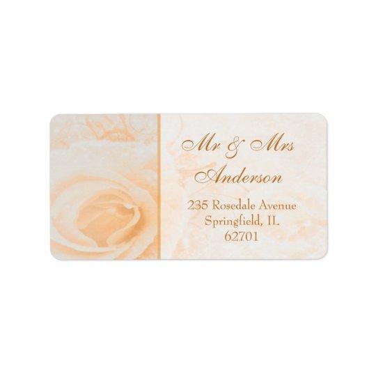 Etiqueta Dirección magnífica del rosa de la crema del