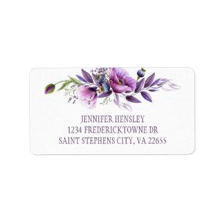 Etiqueta Dirección púrpura violeta el | de los Wildflowers