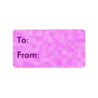 Etiqueta Diseño creado púrpura rosáceo del arte abstracto