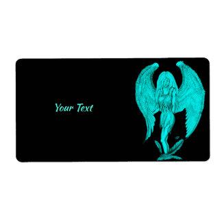 Etiqueta Diseño del ángel, del negro y del verde