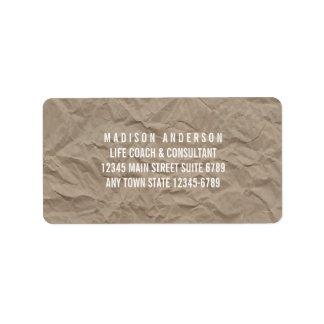 Etiqueta Diseño rústico moderno minimalista del papel el |