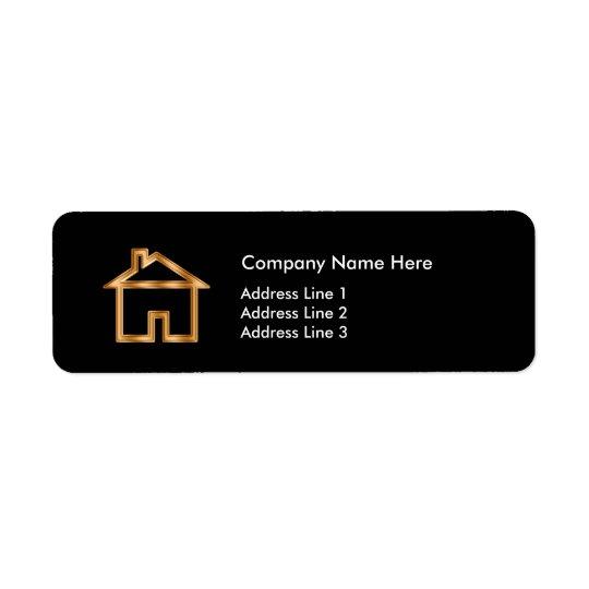 Etiqueta Disposición simple del agente inmobiliario con