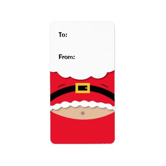 Etiqueta divertida de la etiqueta del regalo del etiqueta de dirección