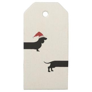 Etiqueta divertida del regalo del navidad de santa