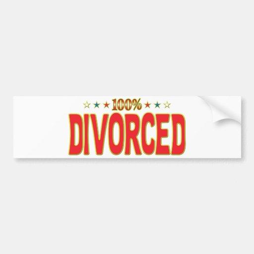 Etiqueta divorciada de la estrella etiqueta de parachoque