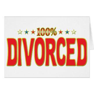 Etiqueta divorciada de la estrella felicitaciones