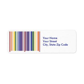 Etiqueta doble del remite del código de barras del etiquetas de remite