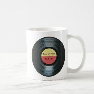 Etiqueta Drinkware del expediente de la música del Taza De Café