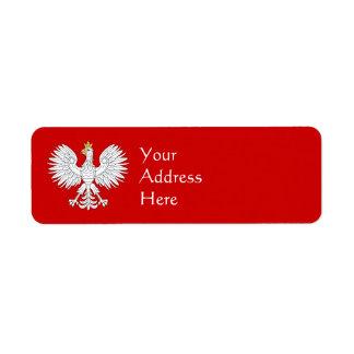 Etiqueta Eagle polaco