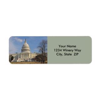 Etiqueta Edificio de Capitol Hill del Washington DC