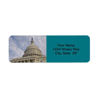 Etiqueta Edificio de Capitol Hill en Washington DC