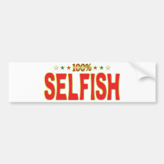 Etiqueta egoísta de la estrella pegatina de parachoque