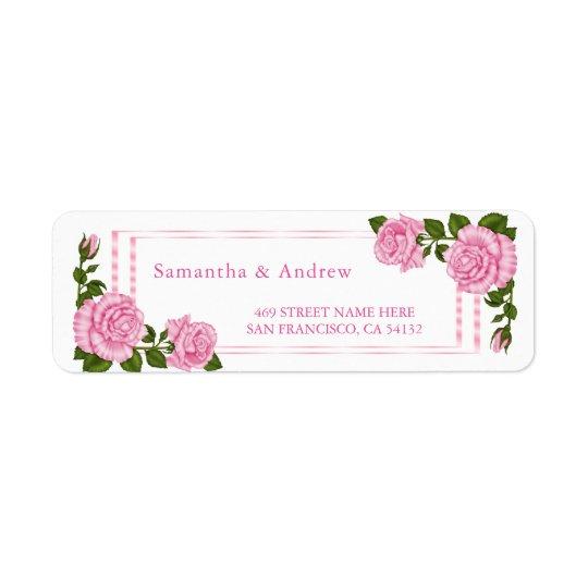 Etiqueta El casarse de la esquina rosado bonito de los