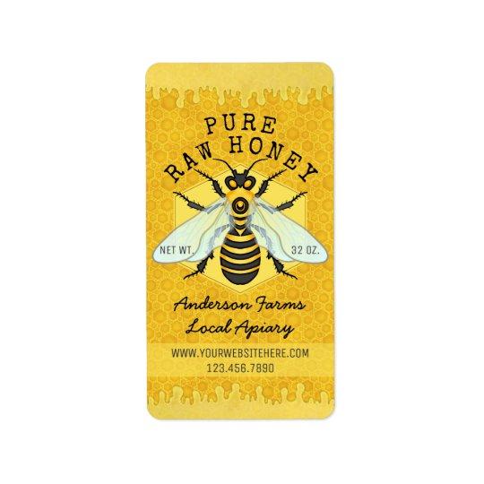 Etiqueta El colmenar del tarro de la miel de la abeja