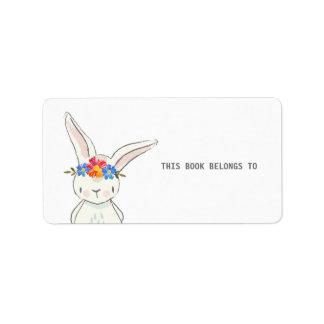 Etiqueta El conejito blanco lindo este libro pertenece a