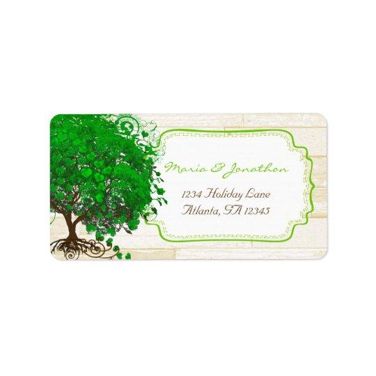 Etiqueta El corazón caprichoso lindo del verde esmeralda