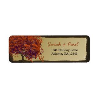 Etiqueta El corazón caprichoso lindo hojeó árbol coralino