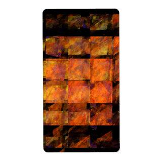 Etiqueta El fractal del arte abstracto de la pared