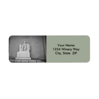 Etiqueta El Lincoln memorial en Washington DC