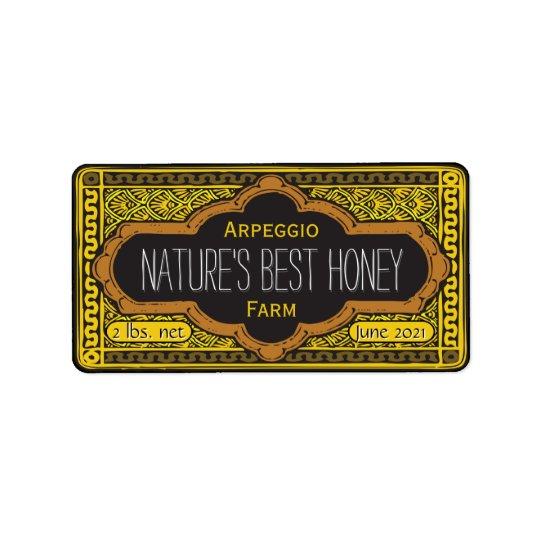 Etiqueta El mejor tarro de la miel de las naturalezas
