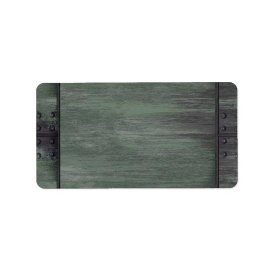 Etiqueta El verde clavó la textura de acero