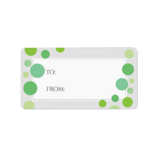 Etiqueta El verde moderno puntea neutral del día de fiesta