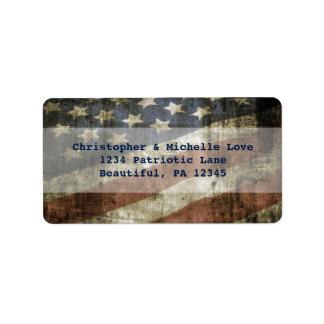 Etiqueta El vintage Estados Unidos patrióticos señala la