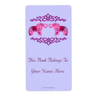 Etiqueta Elefante de la alheña (rosa/púrpura)