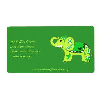 Etiqueta Elefante de la alheña (verde/verde lima)