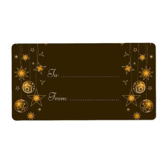 Etiqueta elegante de lujo de la decoración del etiqueta de envío